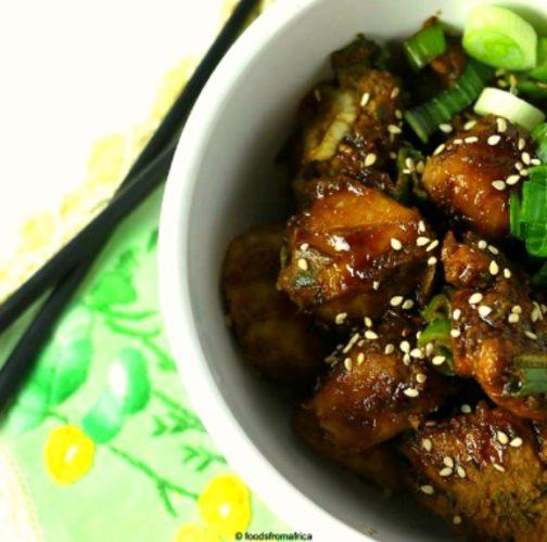 teriyaki-chicken-and-african-cocoyam-taro-root