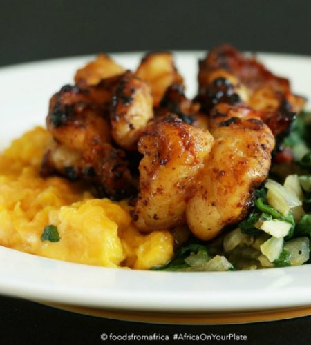 plantain+mash+with+sautéed+spinach