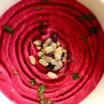 Oven-Roasted Beet & Chickpea Hummus
