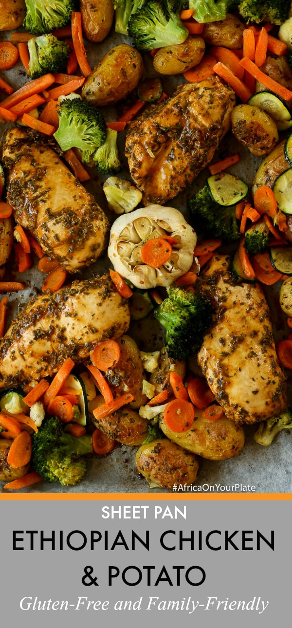 sheet pan ethiopian chicken